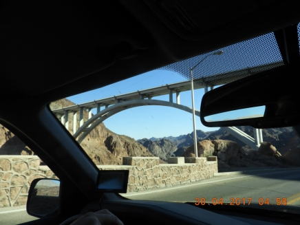 the bridge above the dam
